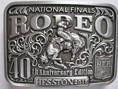 National Finals Rodeo Hesston 2015 NFR Adult Cowboy Buckle New Wrangler AGCO