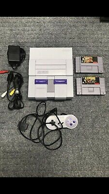 Super Nintendo SNES - Console System with DONKEY KONG Country 1 & 2