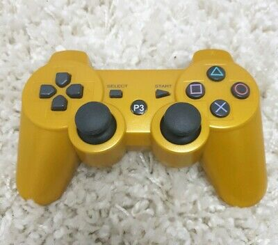 Sony PS3 CECHZC2U wireless GOLD controller bluetooth playstation 3 vgc dualshock