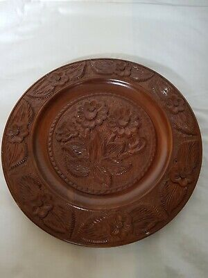 Vintage Decorative Wall Plate-Wooden Antique-Collectable Ornament