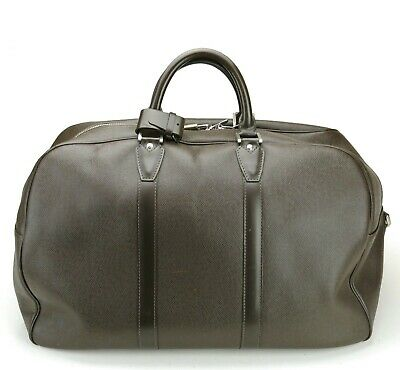 Authentic Louis Vuitton Kendall Brown Taiga Leather Duffel Bag