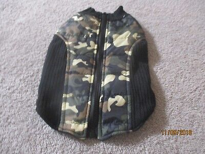 Small Top Paw Camouflage / Black Dog Coat / Sweater