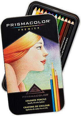 Prismacolor 3596T Premier Colored Pencils, Soft Core, 12 Count~Gift