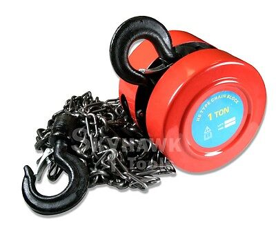 New 1Ton Chain Hoist Puller Block Winch Steel Hardened Lift capacity: 2,000 lbs