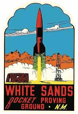 White Sands  NM  New Mexico  rocket  Vintage Looking Travel Decal Sticker