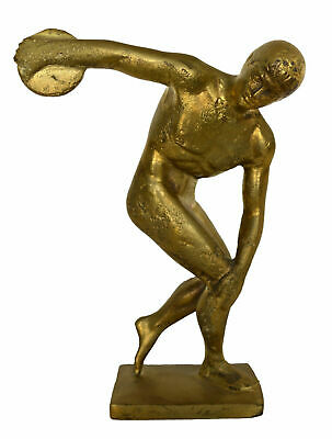 Diskobolus of Myron Bronze Figurine - Discus Thrower sculpture - Ancient Greece