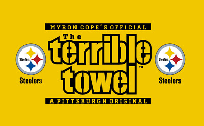 Pittsburgh Steelers 3' x 5' Terrible Towel flag/Banner US SELLER-$1 SHIPPING