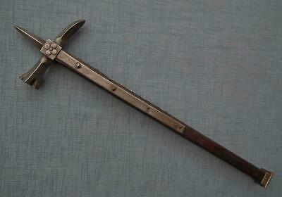 Authentic Antique 15th -16th Century European Knight War Hammer to sword armor