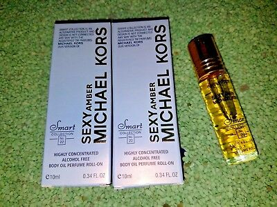 2-SMART COLLECTION Our Version of Michael Kors Sexy Amber Perfume Body Oil .34oz