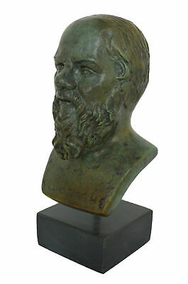 Socrates small Bronze Bust - Western Philosophy - Plato Aristotle Students
