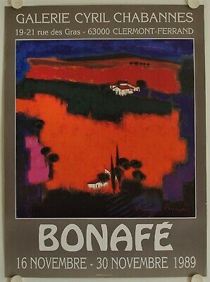 Affiche BONAFE 1989 Exposition Galerie Cyril Chabannes