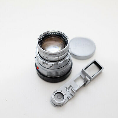Leica 50mm Summicron f2 dual range M lens with spectacles (near-focus adapter)