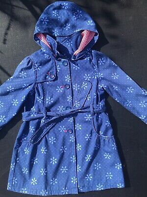 Girls Blue Trench Coat Age 7-8 By Sweet Millie Jacket