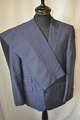 """Jaegar blue wool /mohair single breasted 2 piece suit chest 42"""" W 38"""" mod"""