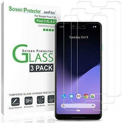 amFilm Glass Screen Protector for Google Pixel 3 XL (3 Pack) Tempered Glass...