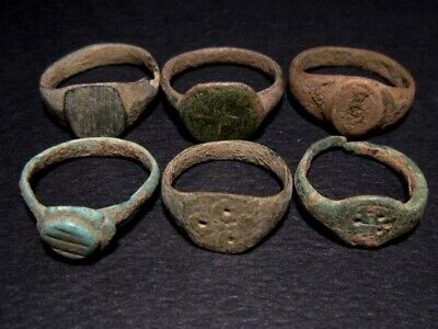 LOT of 6 pcs. ANCIENT CHILD ROMAN, BYZANTINE AND MEDIEVAL FINGER RINGS+++