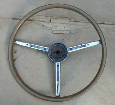 1953 Chrysler Imperial STEERING WHEEL Original New Yorker beige Hub Trim