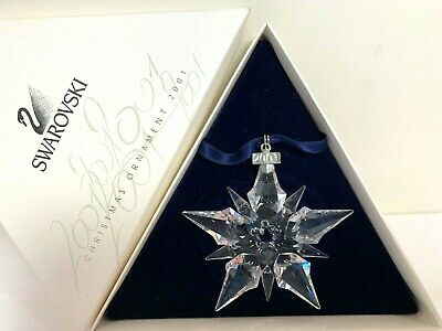 Swarovski Crystal -2001 Large Annual Snowflake Ornament W/Box - Exc. Cond.