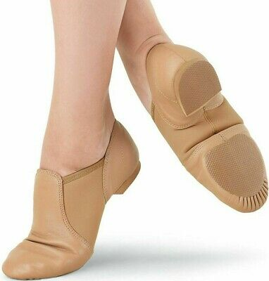 Jazz Dance Shoes Slip On 100% Leather  Split Sole Handmade Modern Stage Jazz