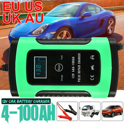 Car Motorbike Lead Acid Battery Charger 12V 6A Automatic Charging LCD Display