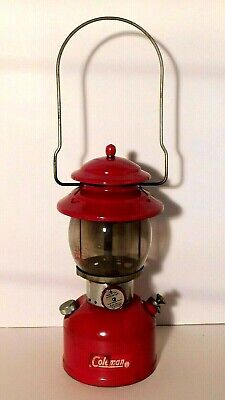 Vtg. Red Coleman Lantern 200 A6/63 Original Globe Sunshine of the Night USA