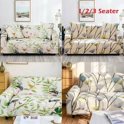 1/2/3 Seater Home Soft Elastic Sofa Cover Couch Easy Stretch Slipcover Protector