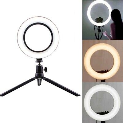 LED Ring Light Dimmable Lamp Tripod Stand Selfie Camera Phone Studio Photo Video
