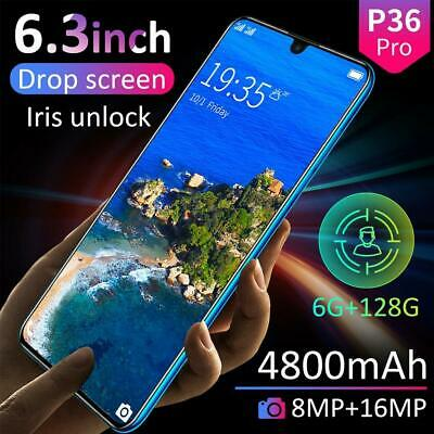 "P36 PRO 6.3"" Android 9.1 Smartphone Dual SIM 6GB+128GB Face Fingerprint Unlocked"