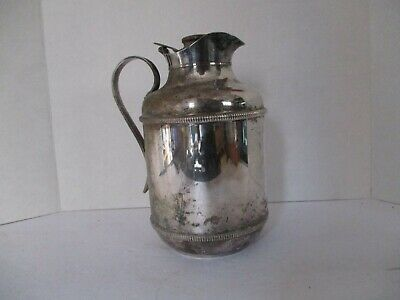 STANDARD Vintage Silver Plated Insulated Pitcher Thermos, Made in Italy