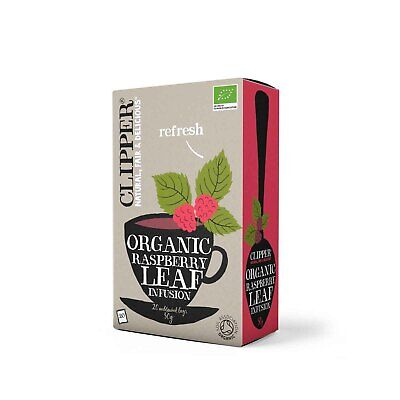 Clipper Teas Organic Relaxing Infusion - Raspberry Leaf (20 Teabags)