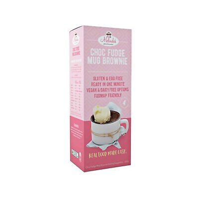 Melindas Gluten Free Goodies Choc Fudge Mug Brownie Pre-Mix (200g)