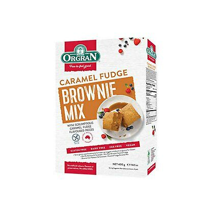 Orgran Caramel Fudge Brownie Mix (400g)