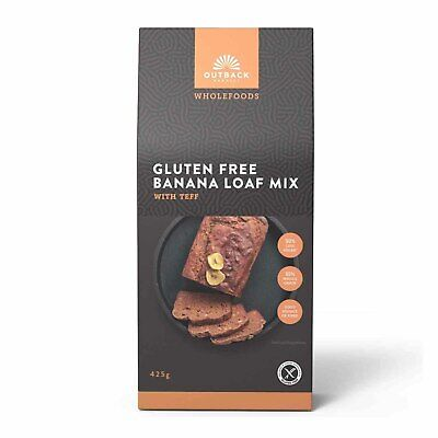Outback Harvest Wholefoods Gluten Free Banana Loaf Mix w/Teff (425g)
