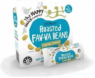 The Happy Snack Company Roasted Fav-va Beans Lightly Salted Box (6x25g)