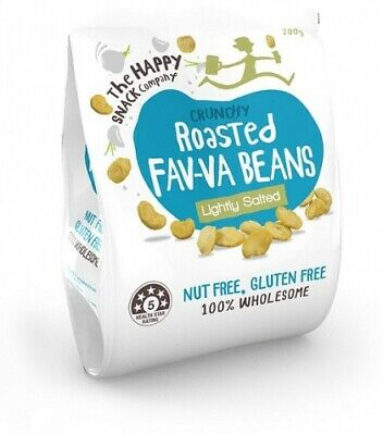 The Happy Snack Company Roasted Fav-va Beans Lightly Salted Bag (200g)