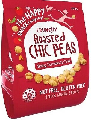 The Happy Snack Company Roasted Chickpeas Spicy Tomato & Chilli Bag (200g)
