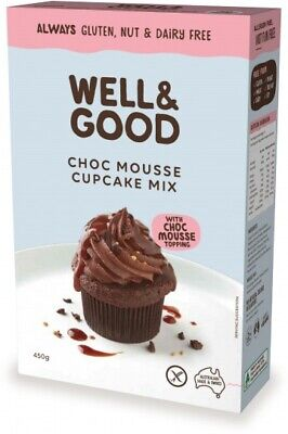 Well & Good Choc Mousse Cup Cake Mix & Mousse Topping (450g)