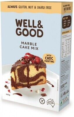 Well & Good Marble Cake Mix & Choc Frosting (450g)
