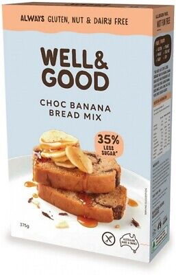 Well & Good Choc Banana Swirl Bread Mix (375g)