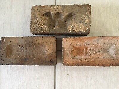 ~ 3 x Old Sandstock Bricks - MSF- Oxley - Convict/Early Era ~