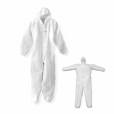 L&d Overall Hood Protective Suit Clothing Paint Sz. L White