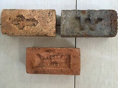 ~ 3 x Old Sandstock Bricks - Noosa - Arrow/Cross - Convict/Early Era ~