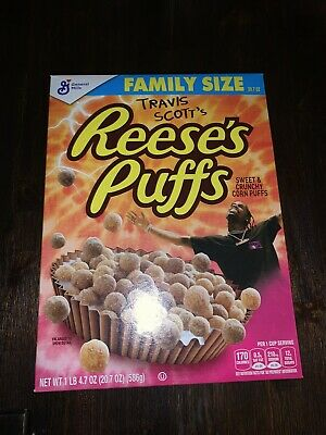 Limited Travis Scott X Reeses Puffs Cereal - Family Sized SOLD OUT RARE!