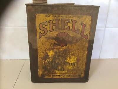 shell one imperial gallon net oil tin