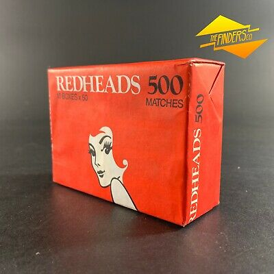 Vintage Redheads Matches Sealed Package Of 10 Boxes 500 Matches Australian Made