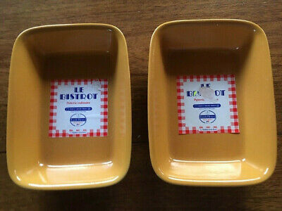 2 petits plats  Emile Henry  Bistrot Poterie culinaire moutarde service