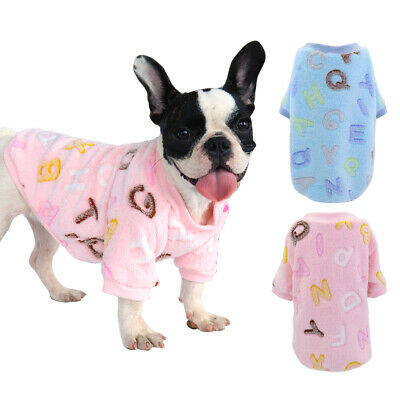 Soft Fennel Pet Cat Dog Pajamas Puppy Chihuahua Clothes Winter Warm Dog Coats