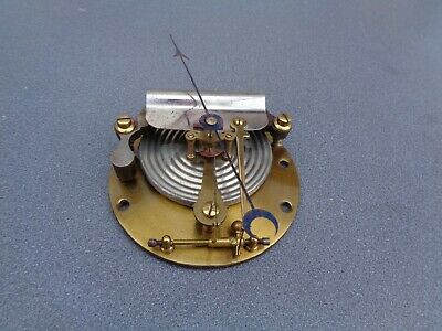 """Large Aneroid Barometer Movement, Visible Type & Pointer For 8"""" Dial Parts Spare"""