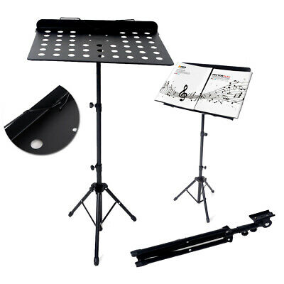 Heavy Duty Orchestral Sheet Music Stand Holder Tripod Base Adjustable Black