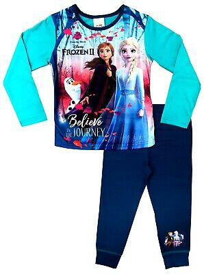 Disney Official Frozen 2 Girls Pyjamas Anna & Elsa Pjs Age 4 to 10 Years